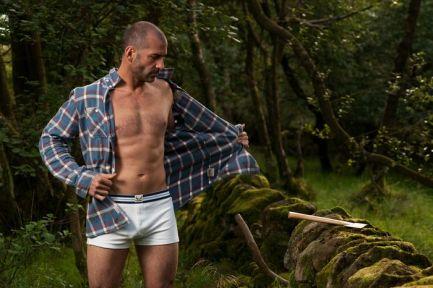 Bluebuck underwear campaign shoot. Scotland, Summer 2010. Model: Andrew Ramming