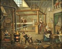 Atelier de soie au XIX°